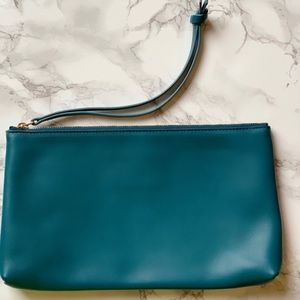 Ann Taylor LOFT leather clutch made in Italy